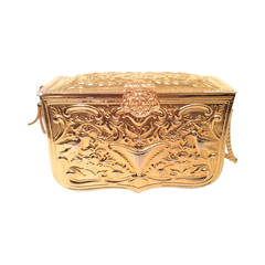 Late 1960's Judith Leiber Rare Gold Tone  Cocktail Bag