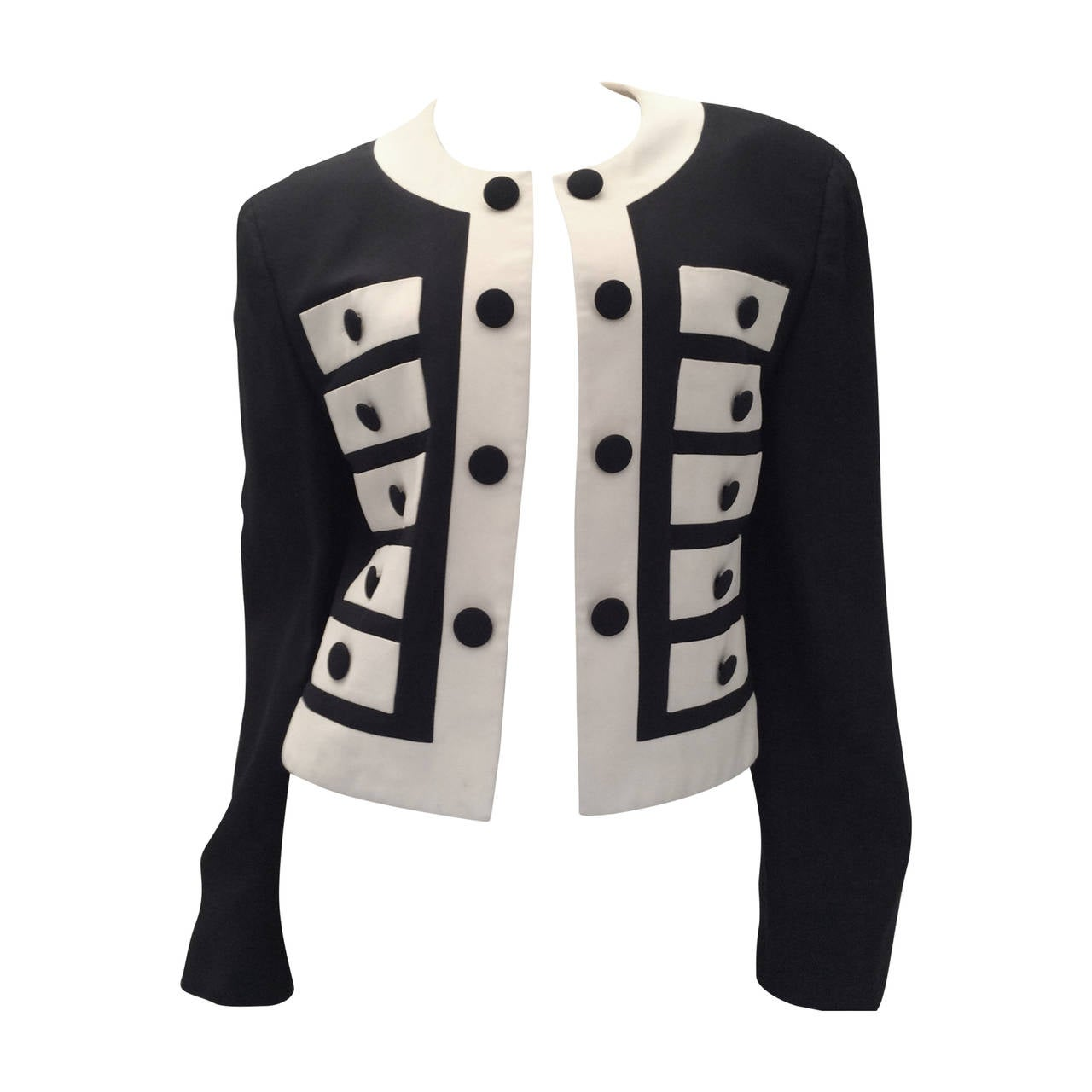 Moschino Couture Jacket - Navy and White - Early to mid 90's For Sale