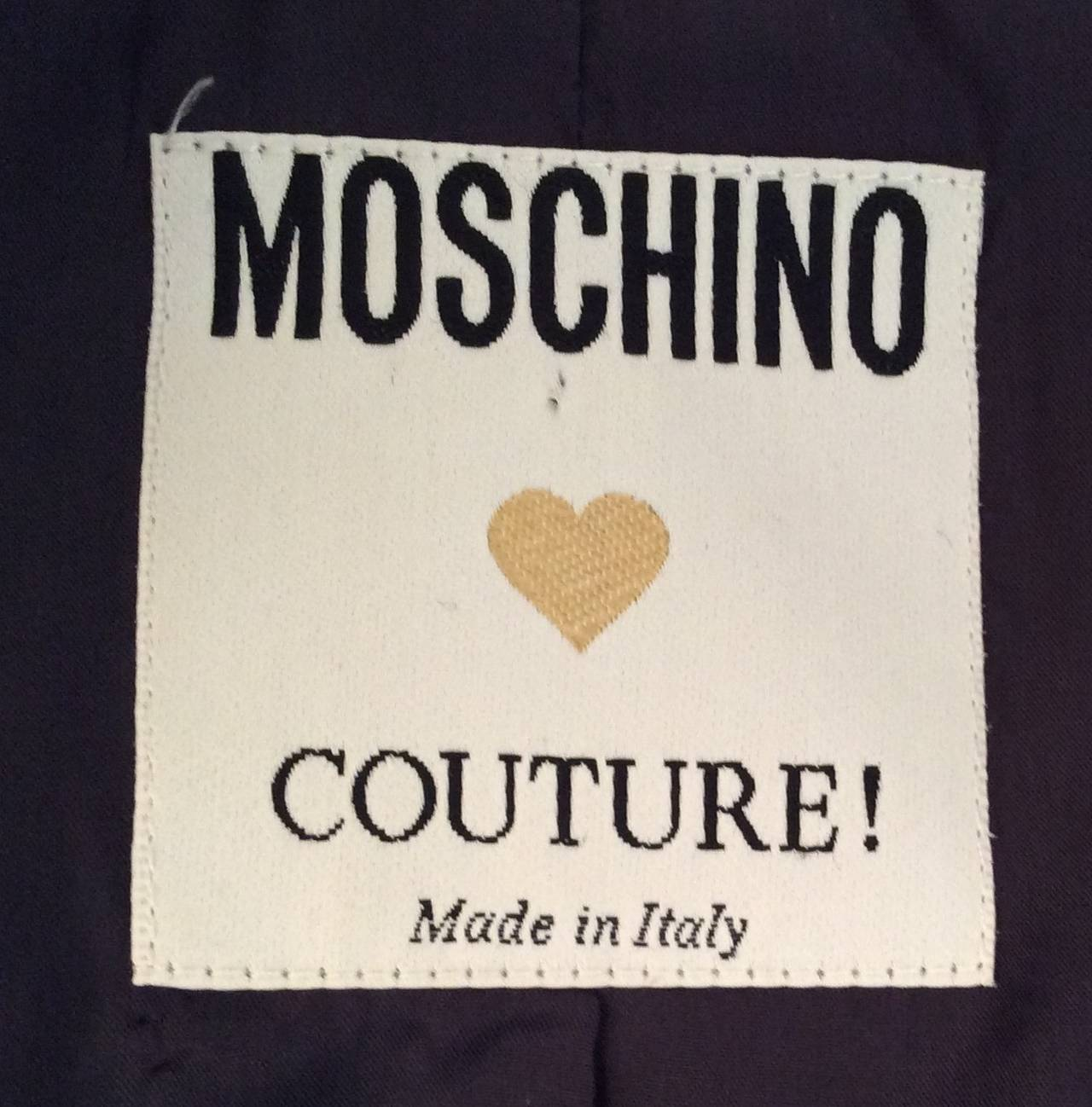 Moschino Couture Jacket - Navy and White - Early to mid 90's For Sale 4