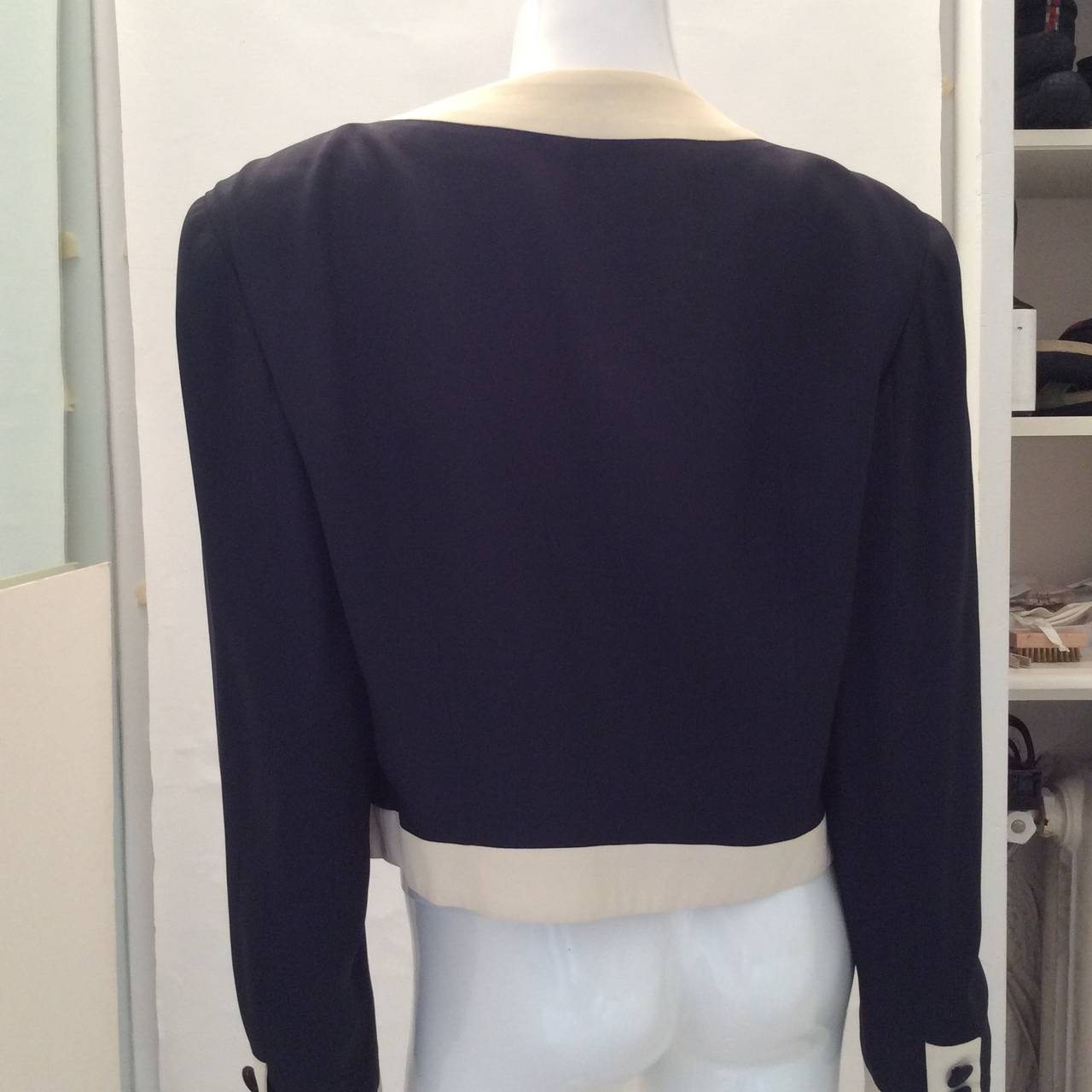 Women's Moschino Couture Jacket - Navy and White - Early to mid 90's For Sale