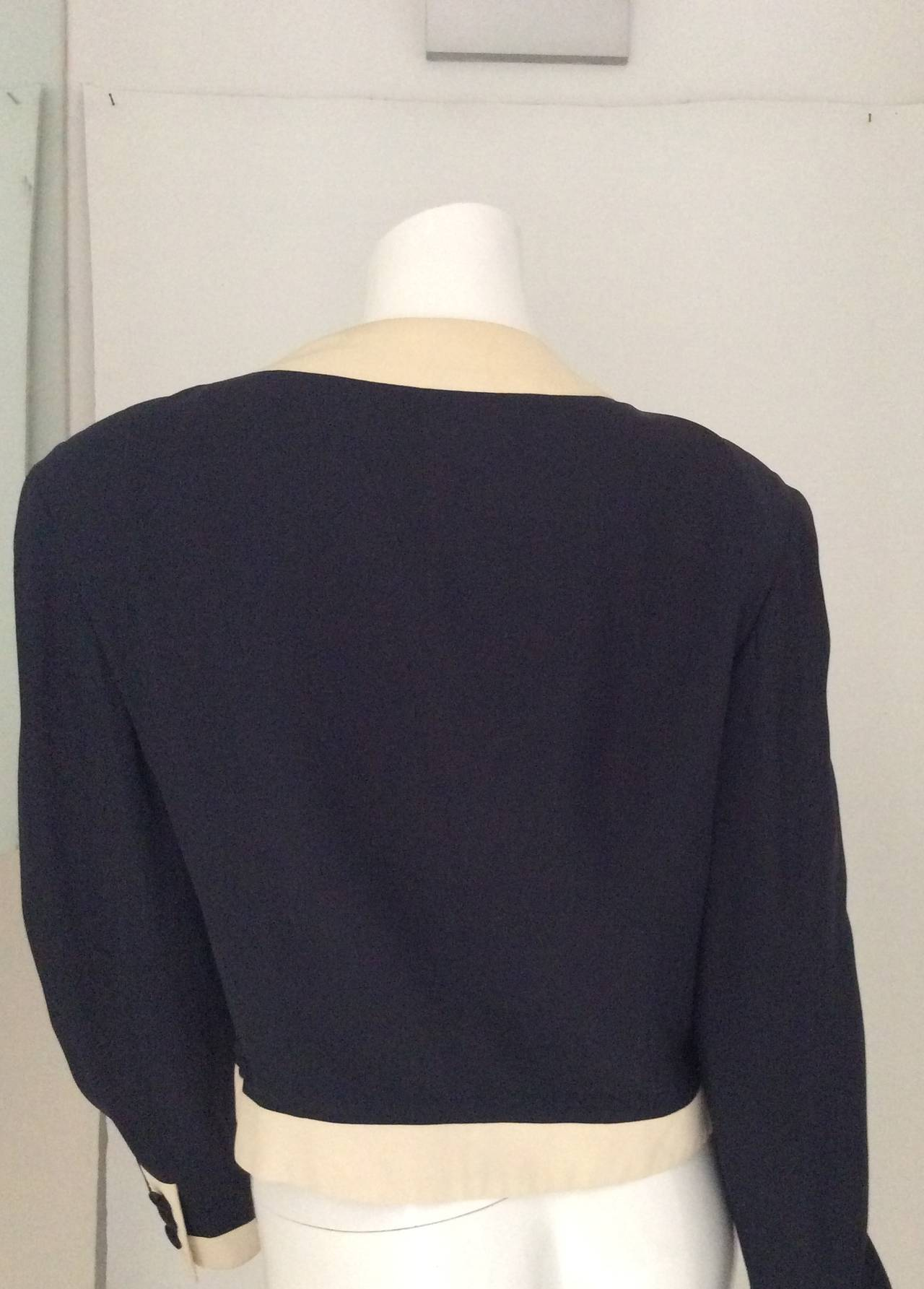 Moschino Couture Jacket - Navy and White - Early to mid 90's For Sale 3