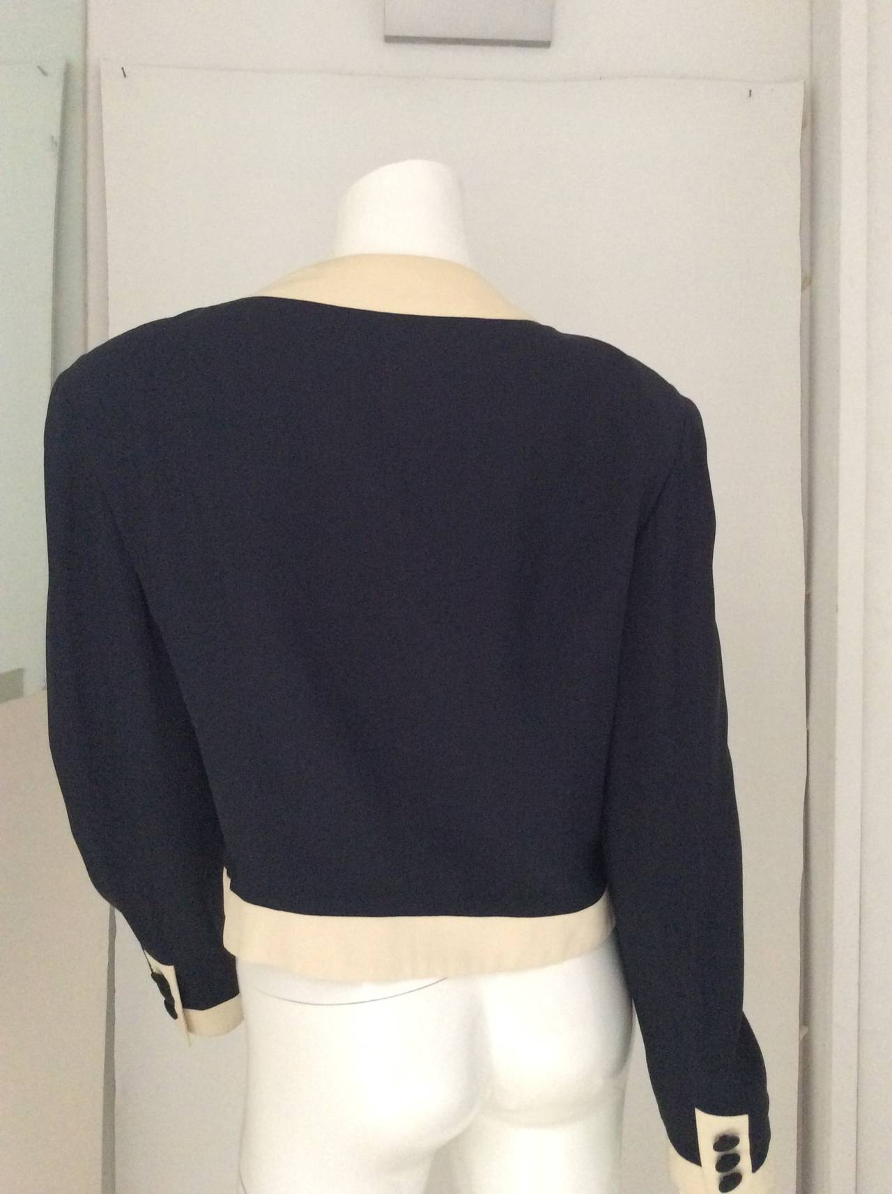 Moschino Couture Jacket - Navy and White - Early to mid 90's For Sale 2