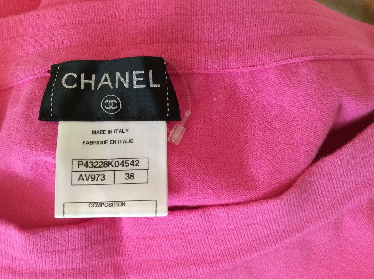 Chanel Pink Casual Pants / Leggings For Sale 1