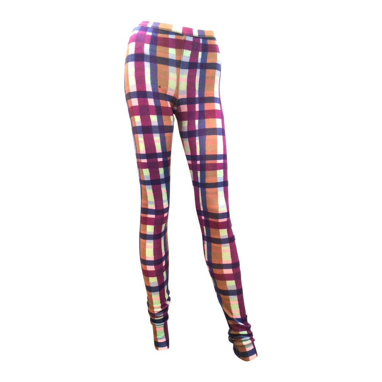 Missoni Stretch Pants / Leggings - Multi-Colored Criss Cross Pattern