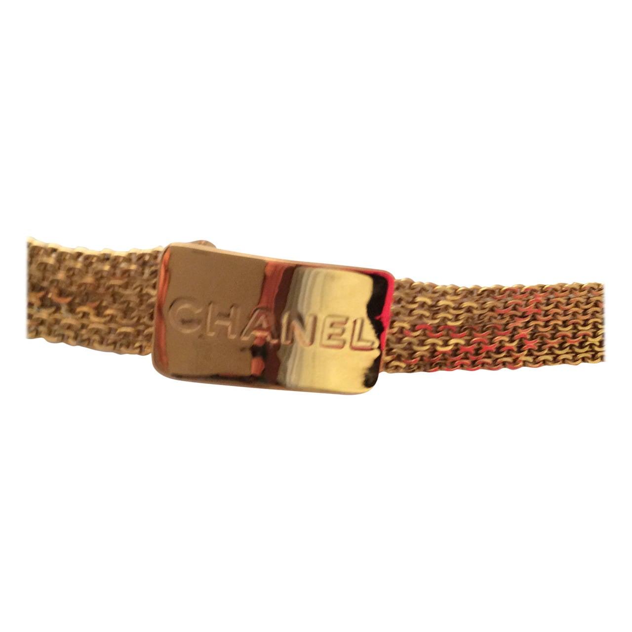 Vintage Gold Tone Magnificent Chain Belt For Sale