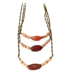 Miriam Haskell 3 Tiered with Robe Chain Necklace with Stones