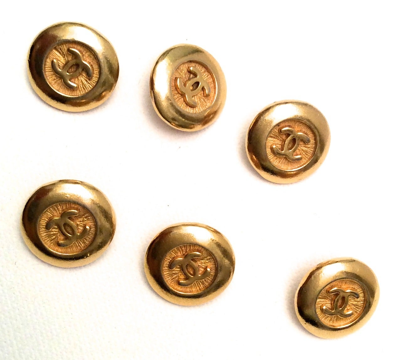 6 Vintage Gold Tone Chanel Buttons At 1stdibs