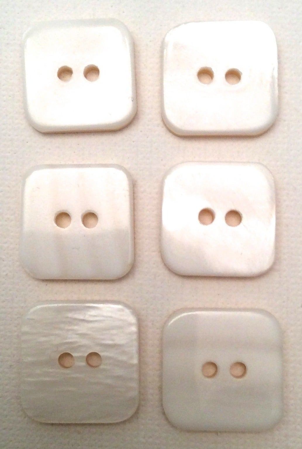 6 Vintage 1990's Chanel Mother of Pearl Buttons 3