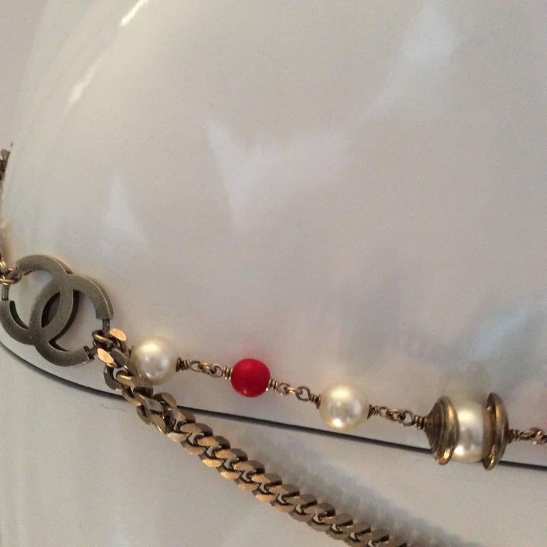 Vintage Chanel Silver Tone Belt / Necklace  In Excellent Condition For Sale In Boca Raton, FL