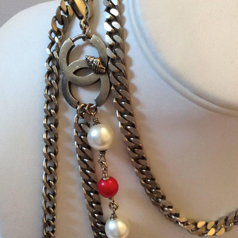 Vintage Chanel Silver Tone Belt / Necklace  2