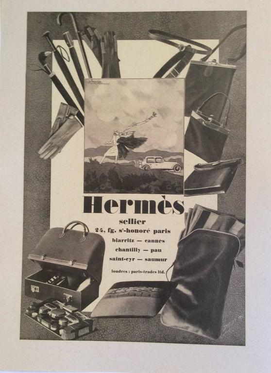 Hermes Vintage Ad Print - 1930's 3