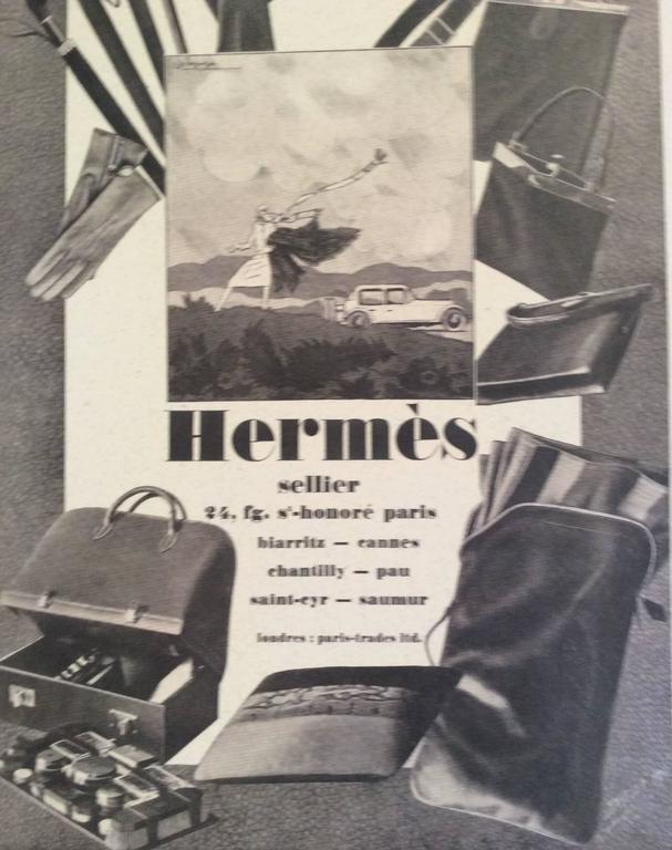 Hermes Vintage Ad Print - 1930's 2