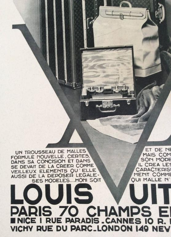 Louis Vuitton  Vintage Ad Print - 1930's 2