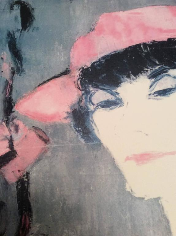 Print of Coco Chanel Portrait from 1960's Rare In Excellent Condition For Sale In Boca Raton, FL