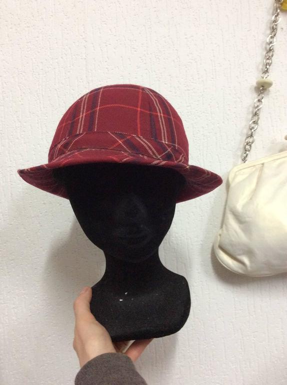 Women's Plaid 1970's Hat For Sale