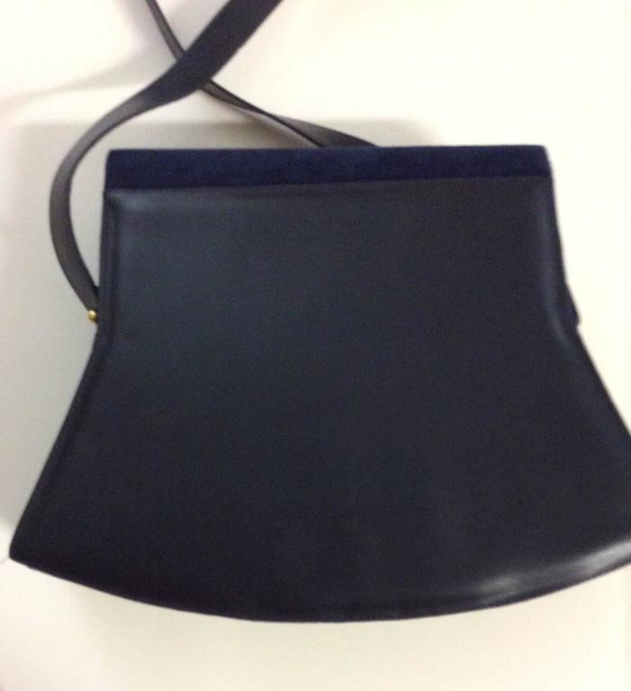 Black Charles Jourdan New Blue Purse / Handbag For Sale