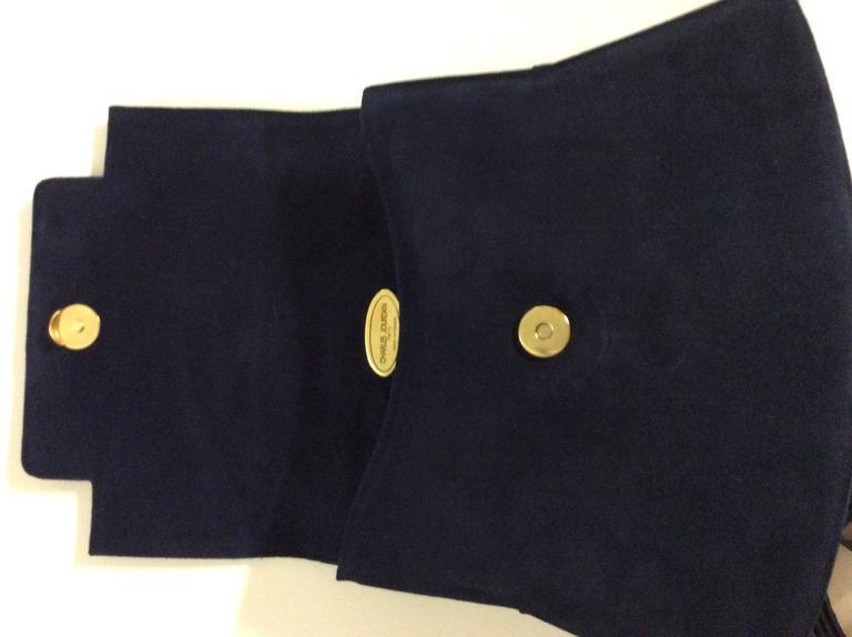 Charles Jourdan New Blue Purse / Handbag For Sale 3