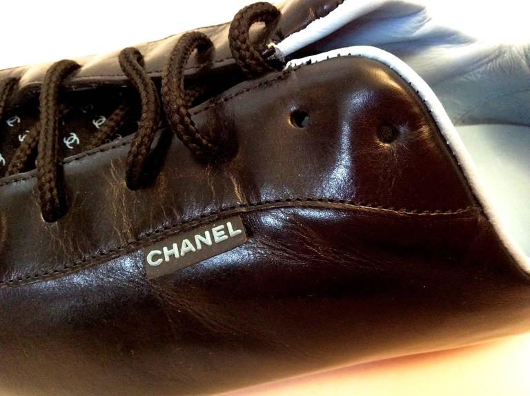 New Chanel Black Sneakers - Size 35.5 For Sale 5
