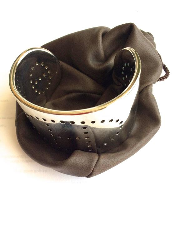 Hermes Eclipse Cuff Bracelet - Sterling Silver For Sale 6