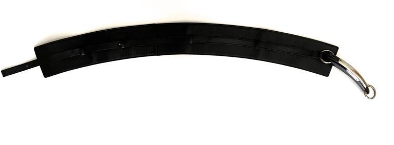 Women's or Men's Yves Saint Laurent (YSL) Belt - Black Leather - Mombassa Horn  For Sale