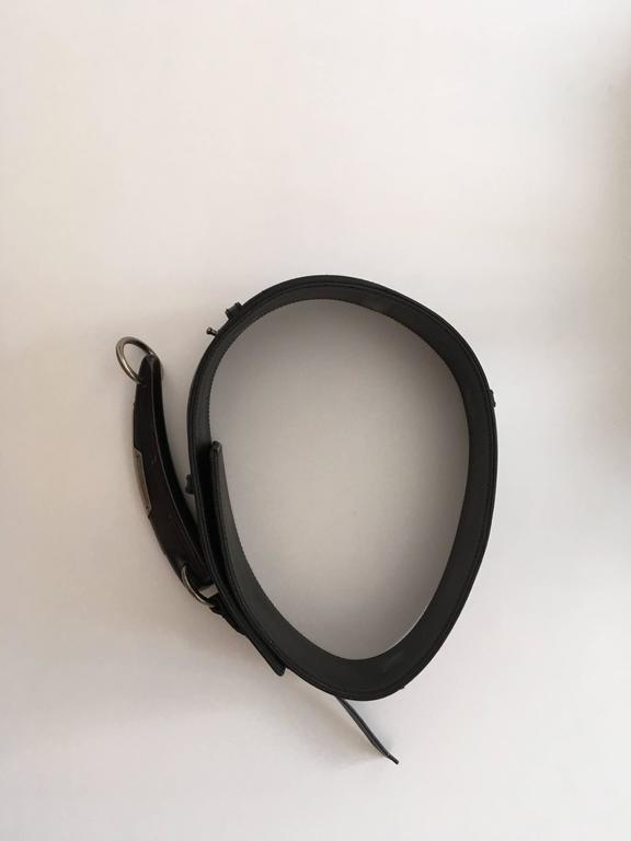 Yves Saint Laurent (YSL) Belt - Black Leather - Mombassa Horn  For Sale 2