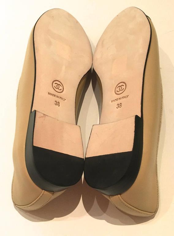 Chanel Ballerina Flats Size 38 At 1stdibs