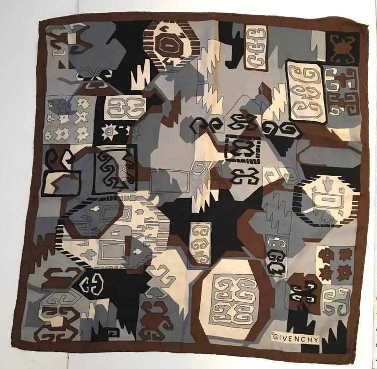 Rare Vintage Givenchy Scarf - 100% Silk In Good Condition For Sale In Boca Raton, FL
