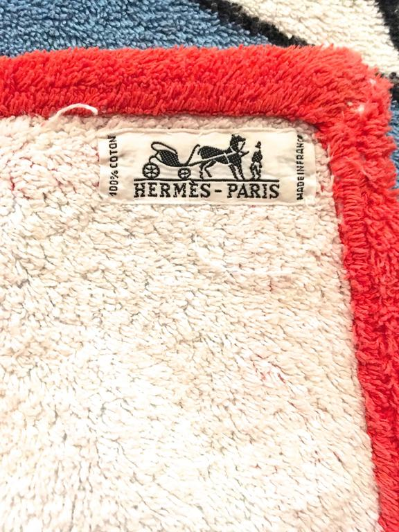 Hermes Beach Towel - 100% Cotton For Sale 1