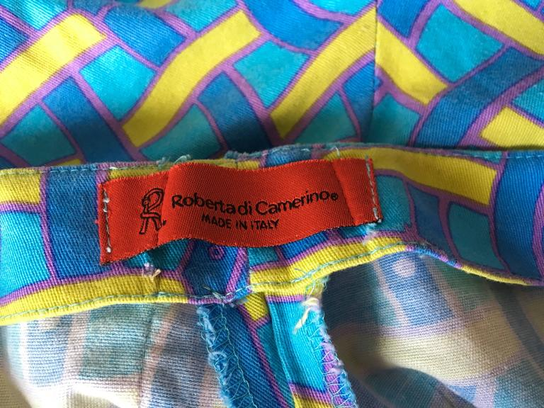 Vintage Roberta di Camerino Pants - Ladies 1980's Cotton  For Sale 4