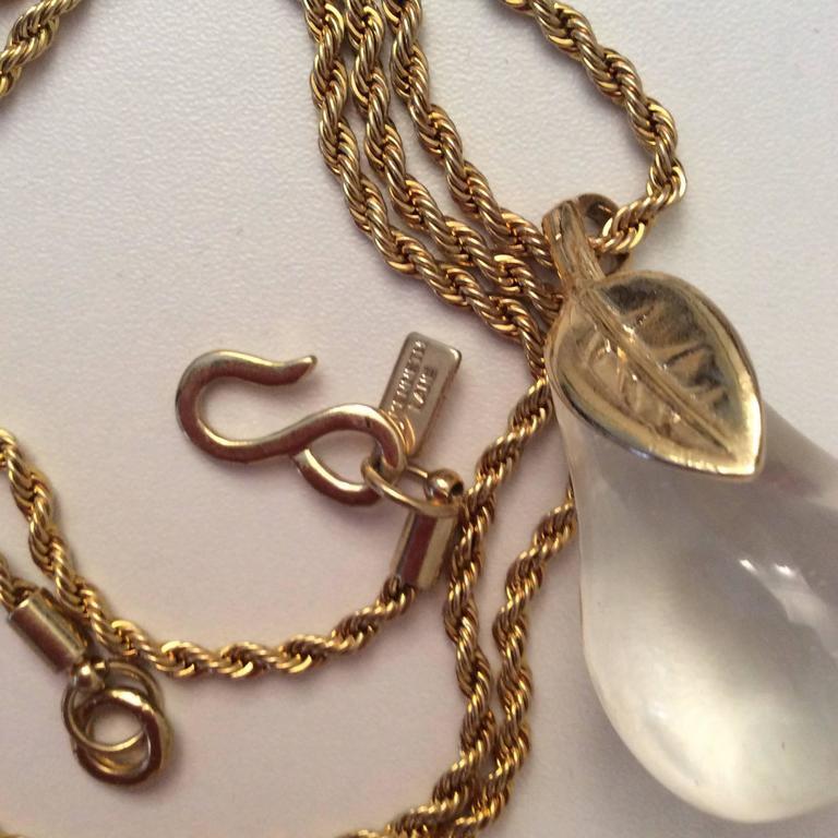 KJL Kenneth J. Lane Necklace - Lucite Pear For Sale 1