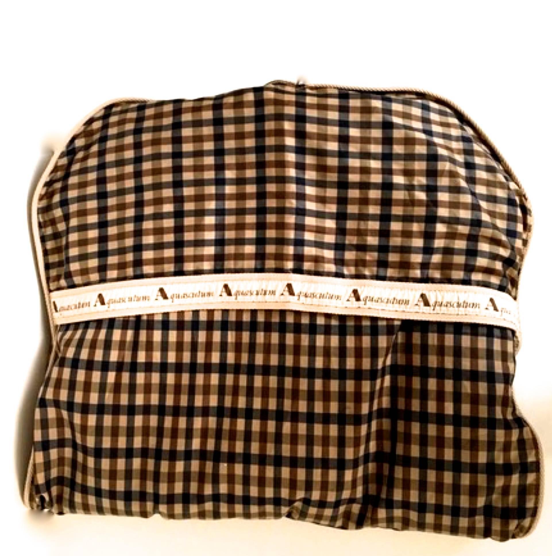 Aquascutum 1980s Aquascutum Travel Duffle Bag W/ Separate Garment Bag Rib7X
