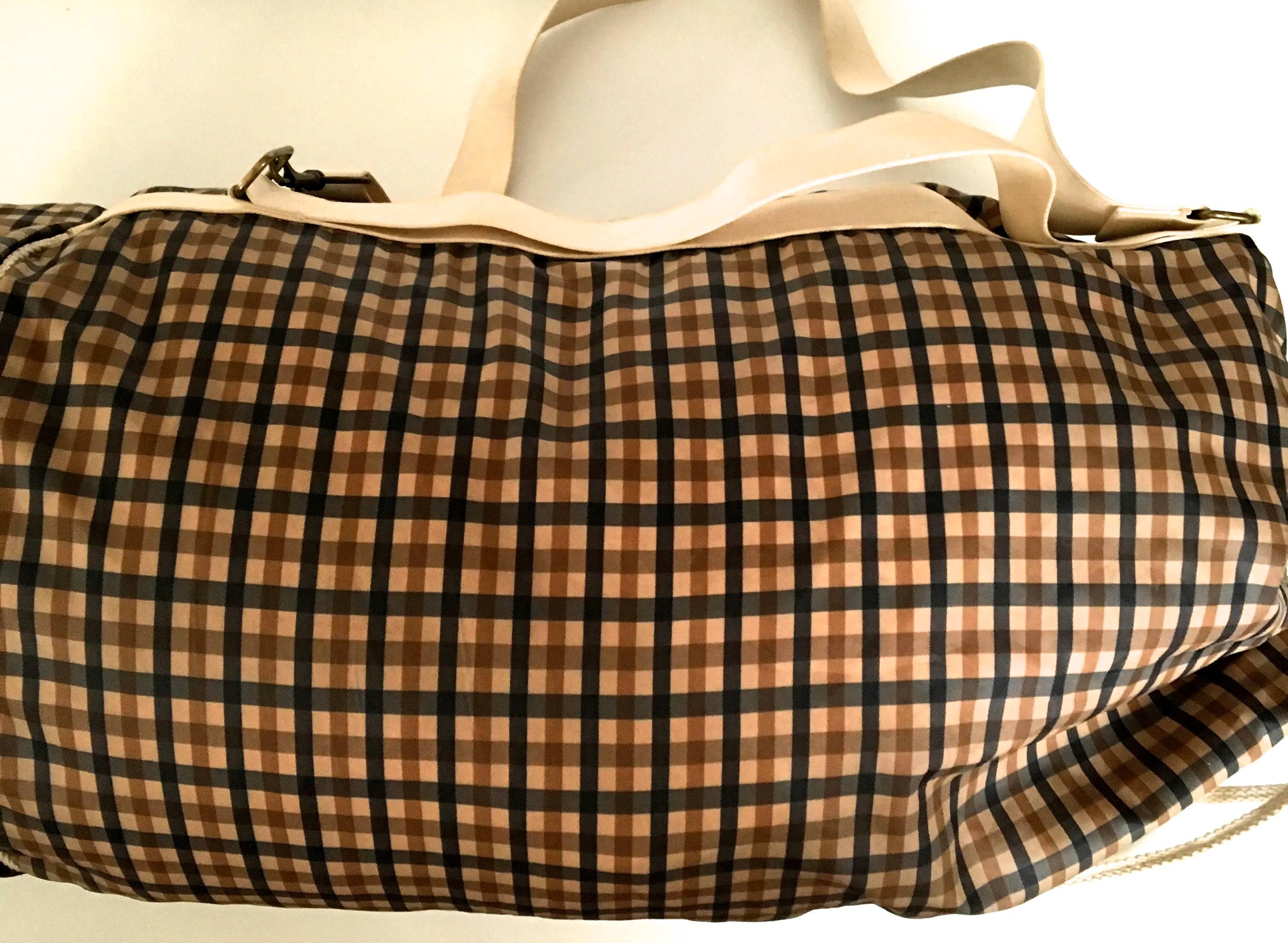 Aquascutum 1980s Aquascutum Travel Duffle Bag W/ Separate Garment Bag Bgsxd