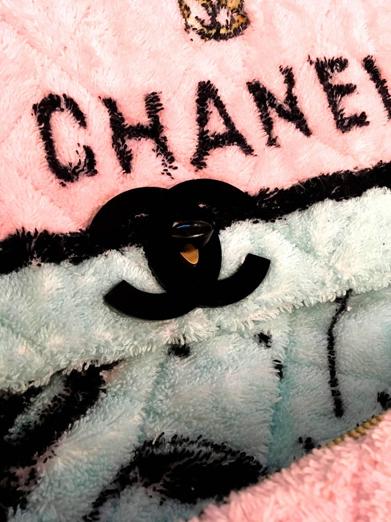 Rare Chanel Terry Cloth XL Backpack - 1994 - Mint Condition 7