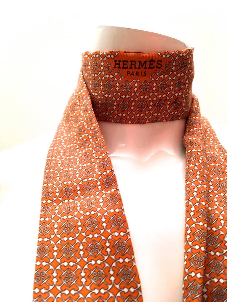 Rare Hermes Scarf Tie Belt 100 Silk New For Sale