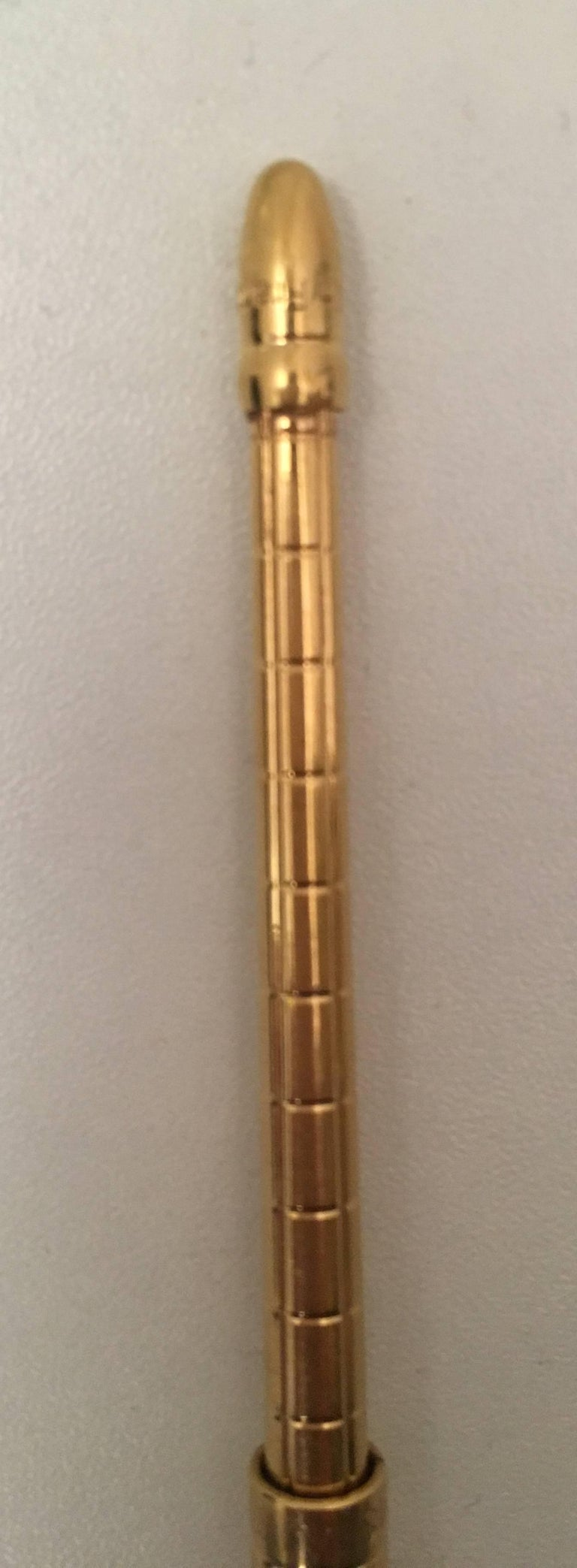 New Louis Vuitton Golden Agenda Ballpoint Pen w/ Refill For Sale 5
