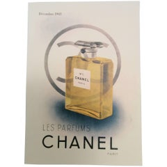 Chanel Vintage Ad Perfume Bottle Ad Print - 1940's