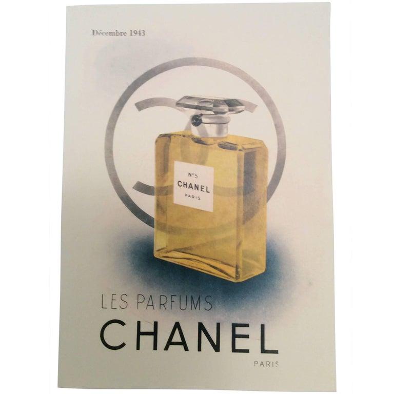 Chanel Vintage Ad Perfume Bottle Ad Print - 1940's