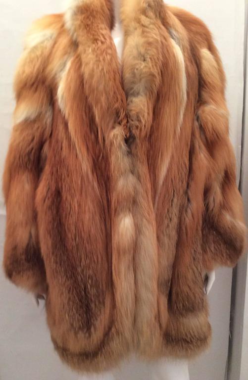 Beautiful Red Fox Jacket - Size Large 5