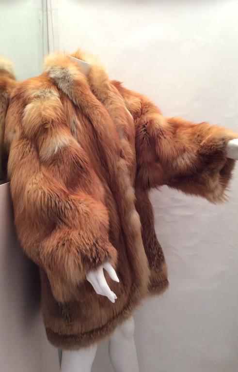 Beautiful Red Fox Jacket - Size Large 3
