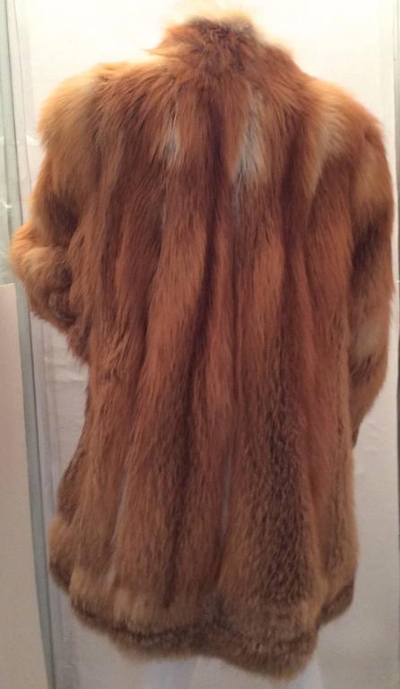 Beautiful Red Fox Jacket - Size Large 2