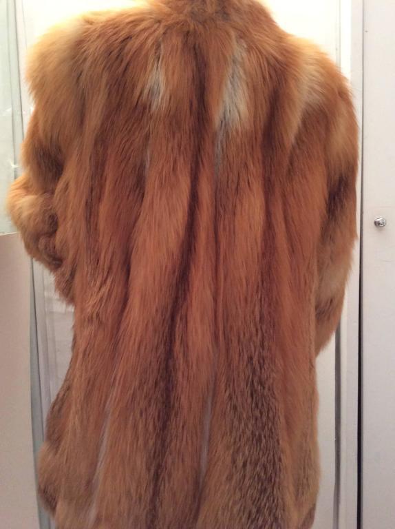 Beautiful Red Fox Jacket - Size Large 6
