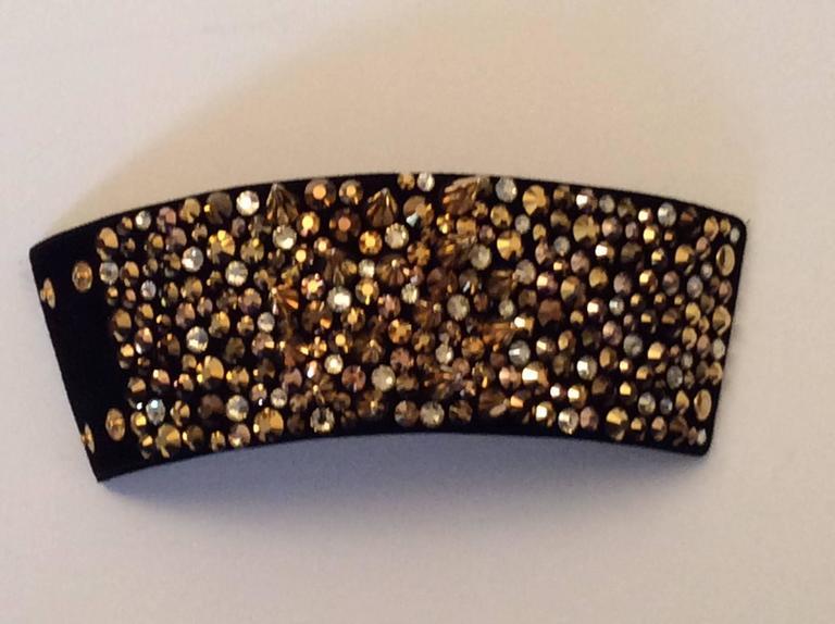Giuseppe Zanotti Studded Leather Cuff Bracelet For Sale 2