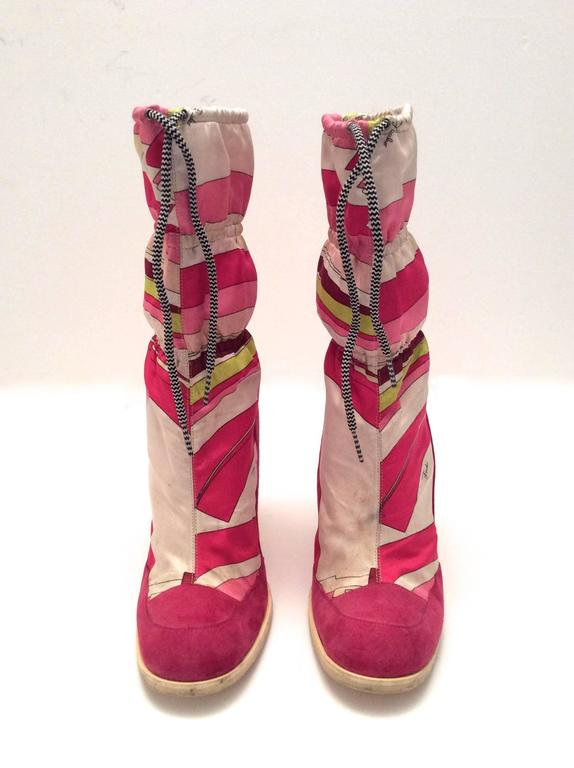Emilio Pucci Vintage Boots Size 38 At 1stdibs
