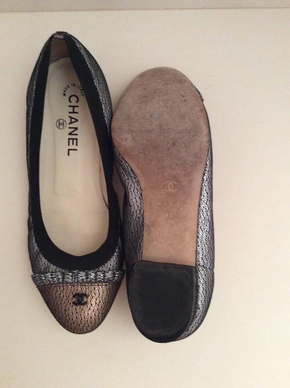 Chanel Ballerina Flats - Size 38 In Excellent Condition For Sale In Boca Raton, FL
