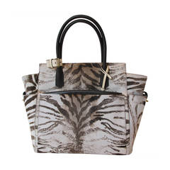 New Reed Krakoff Zebra Printed Calf Hair Tote