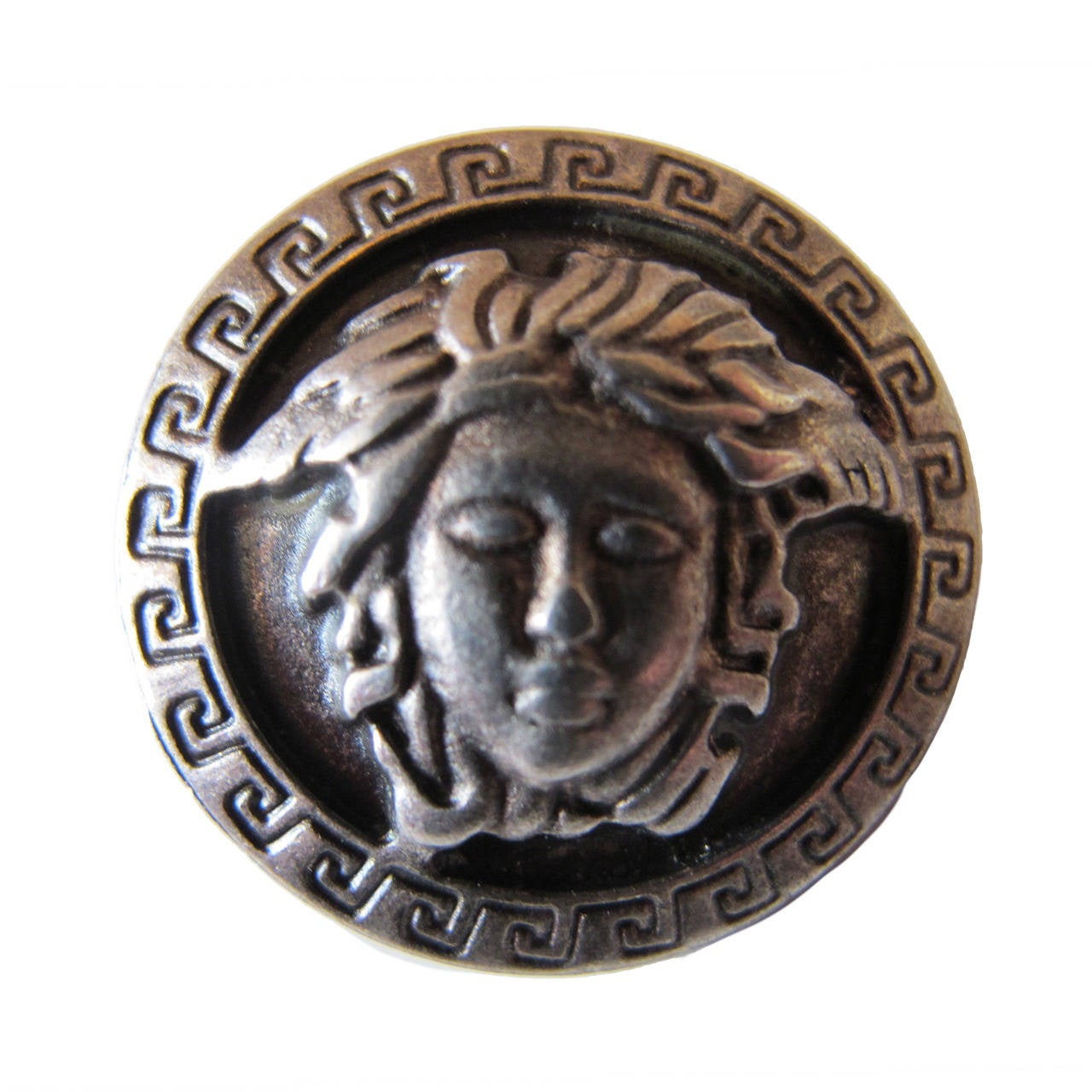Gianni Versace Medusa One Silver Button At 1stdibs