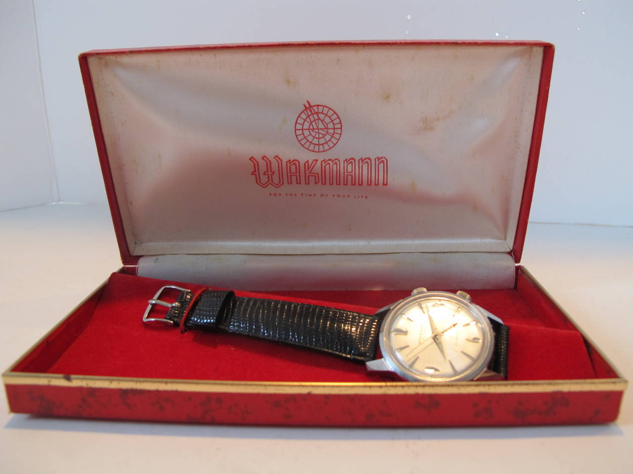 """Wakmann Stainless Steel Alarm """"Incabloc"""" Wristwatch 3"""