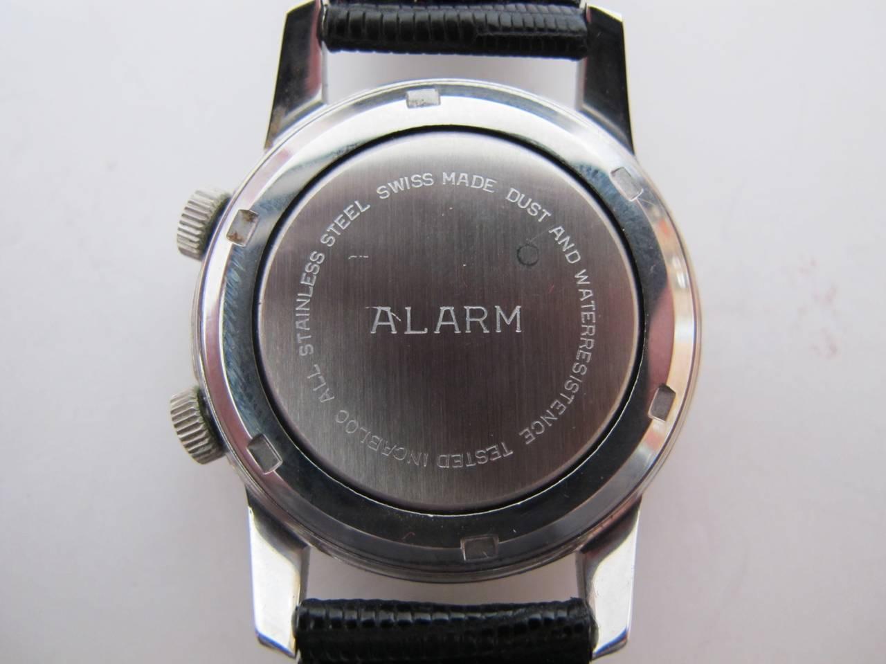 """Wakmann Stainless Steel Alarm """"Incabloc"""" Wristwatch 5"""