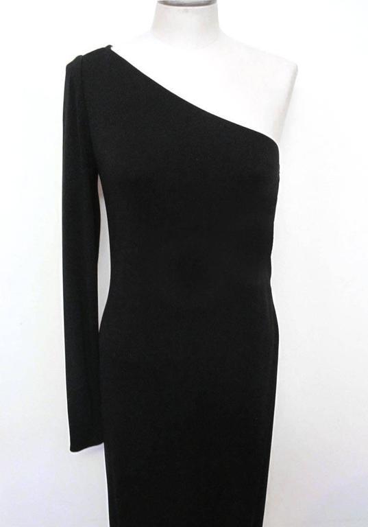 Ralph Lauren Collection Runway One Shoulder Black Evening Gown 2