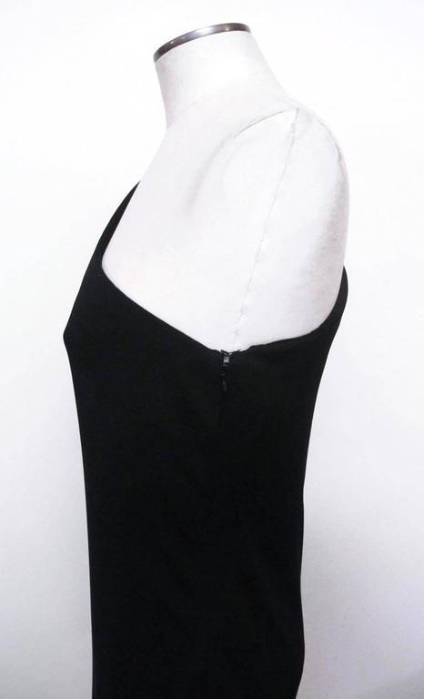 Ralph Lauren Collection Runway One Shoulder Black Evening Gown 3